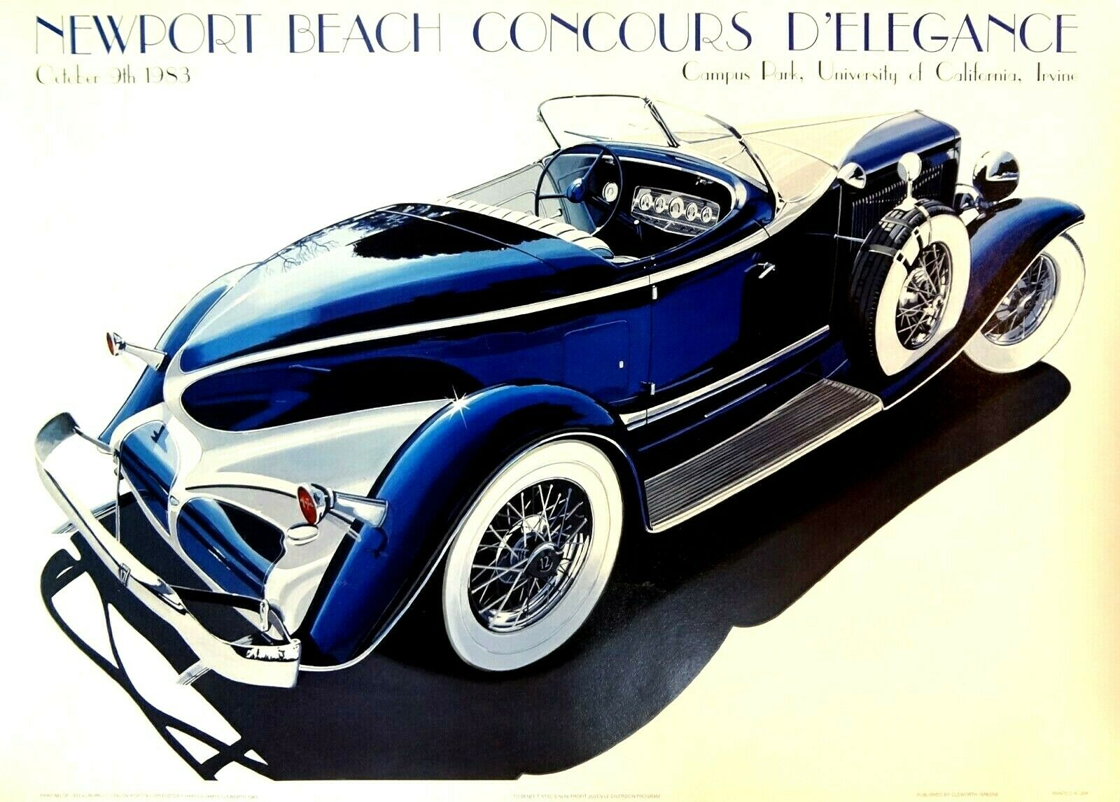 Harold clayworth 1933 Auburn V12 Speedster 1983 Newport Beach Concours Cartel