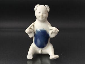 Figur eines KNABEN, Porzellan, CHINA um 1820 - TEK SING figure of a boy - Schatz