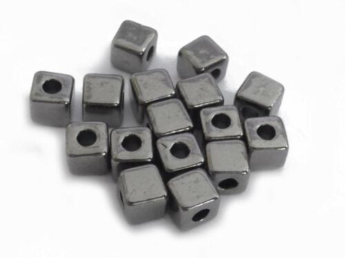75 Métal Perles Cube 4 Mm Hématite Couleur Spacer Perles Nenad-Design an515