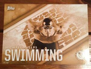 2016 Topps Olympics #1 Michael Phelps Team USA Swimming Card
