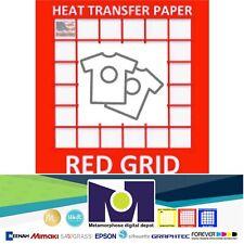 Red Grid Inkjet Heat Transfer Paper Light Color T Shirt 85x11 100 Sheets