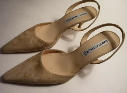 Chaussures Suédé Arrière Couleur Antinori 37 Bride Enrico Cuir 5 Chair xw1qwBf