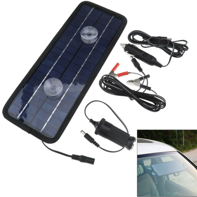 New Power Portable Battery Charger Solar Trickle Panel 12V 4.5W Car Boat