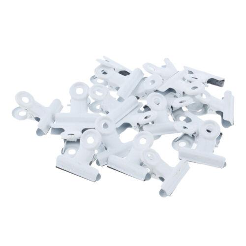 20 Stück Bulldog-Clipklemme aus Metall für Papiertüten-Geldfoto