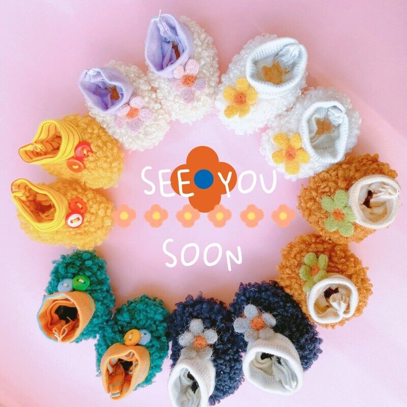 Hand-made Kpop Teddy Plush Patchwork Socks Doll Clothes Stuffed Gift Limit N