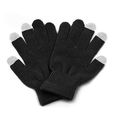 [High Sensitive] Premium Ultra-Soft Hand Wrist Warming Touch Screen Gloves-Black
