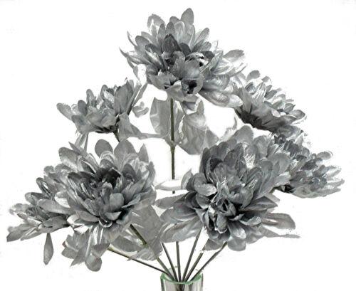 5 Mums ~ MANY COLORS ~ Centerpieces Bouquets Silk Wedding Flowers Chrysanthemum