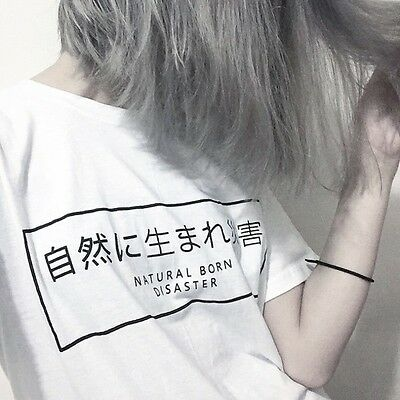 Nature Born Disaster Harajuku Japanese T-shirt Fashion Tumblr Girls t shirt Tops