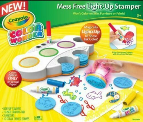 Crayola Color Wonder Mess Light Up Stamper 12pg Pad 3 Markers 10 Stamps For Sale Online Ebay