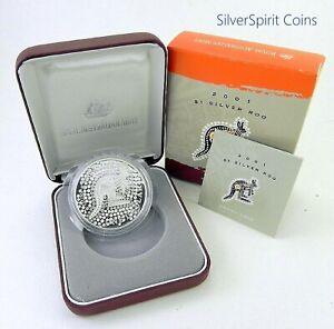 2001-KANGAROO-PROOF-Silver-Coin