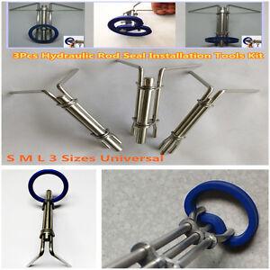 3-Size-Hydraulic-Cylinder-Piston-Rod-Seal-U-cup-Installation-Tool-Prevent-Damage