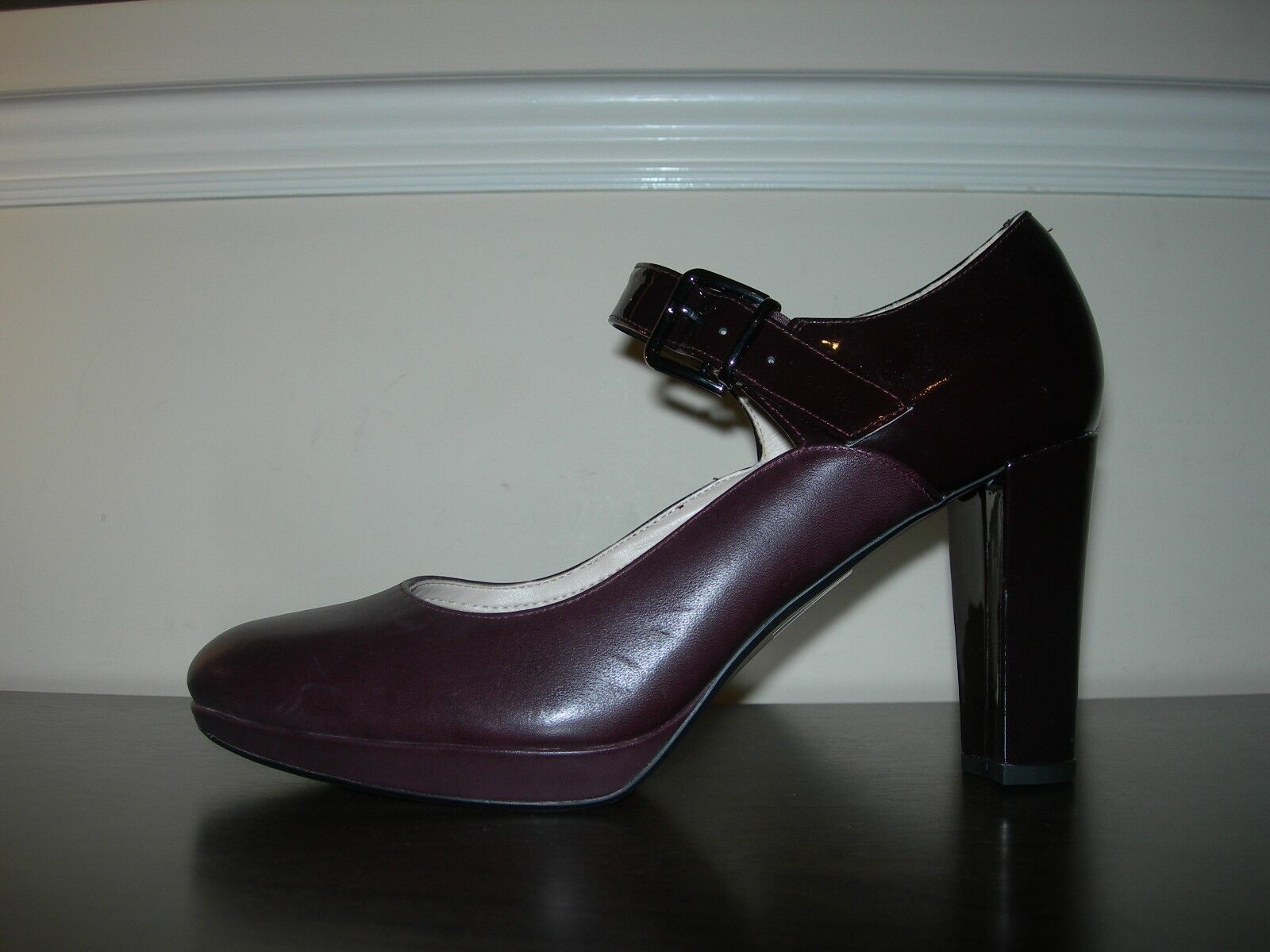 CLARKS NARRATIVE femmes COURT chaussures MARY JANES HEELS AUBERGINE EU 42   UK 8 D