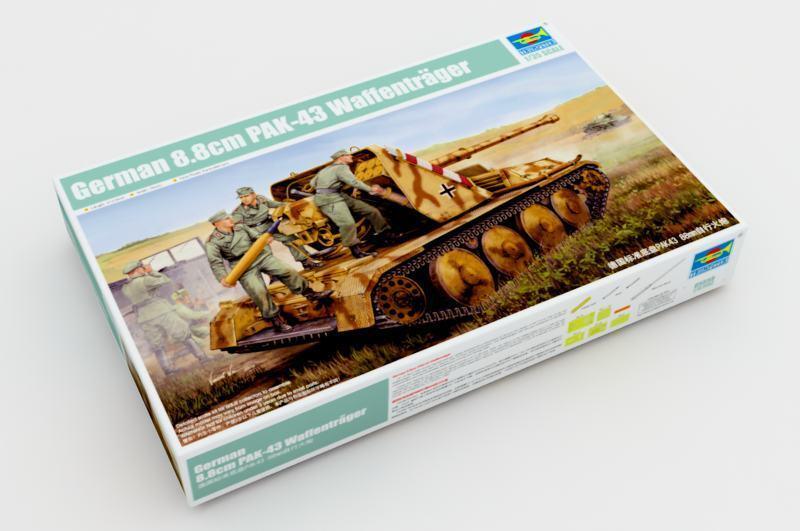 05550 Trumpeter 1 35 Model 8.8cm Pak 43 Waffentrager Self-Propelled Gun Tank Kit