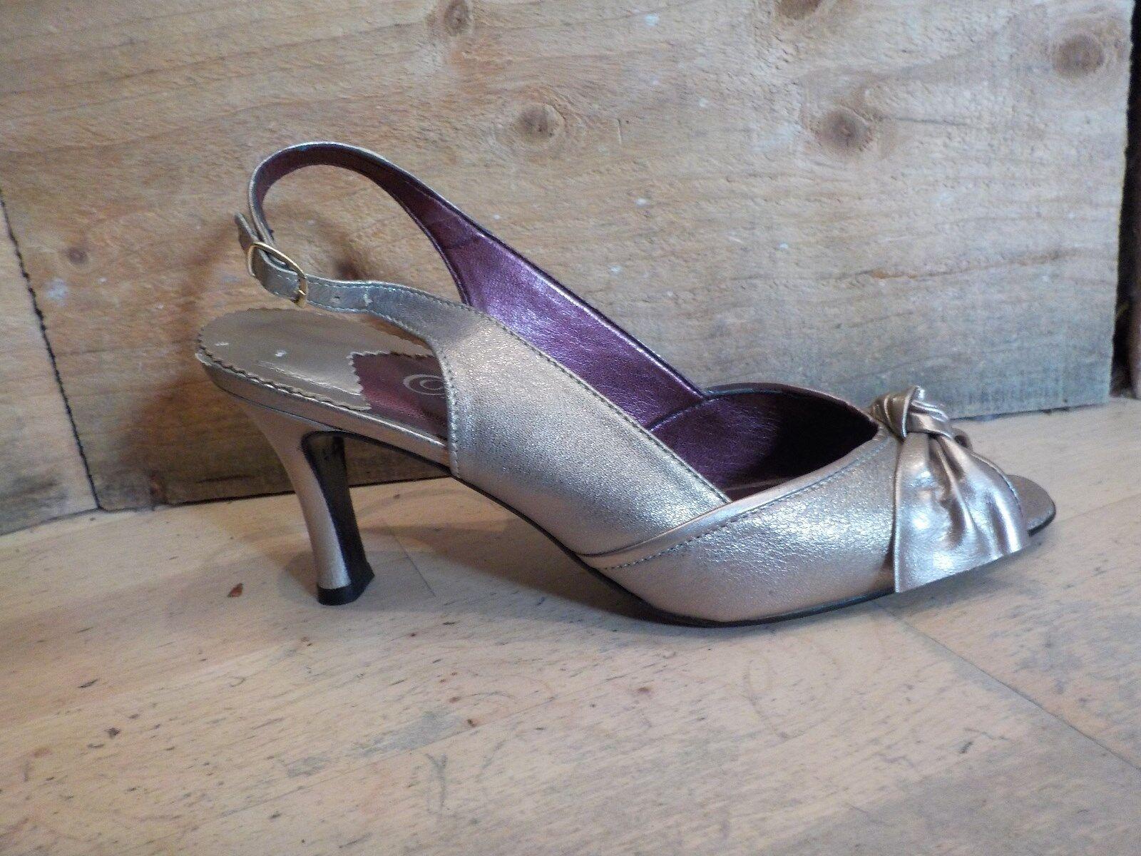Orlando Storm Schuhe Pewter/ Pearl Cream Leder Schuhe Storm GAVOTTE Größe 5 9eebac