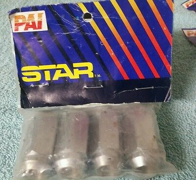"4 Lug Nuts Chrome 14x1.5 Duplex Acorn 14mmx1.5 Closed End 2 Inch Long 7/8"" Head"