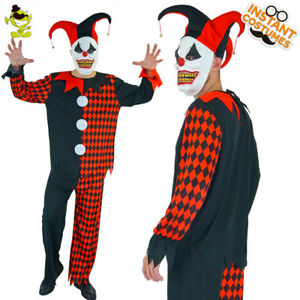 Funny-Mens-Evil-Jester-Clown-Costume-Scary-Halloween-Party-Adult-Clown-Cosplay