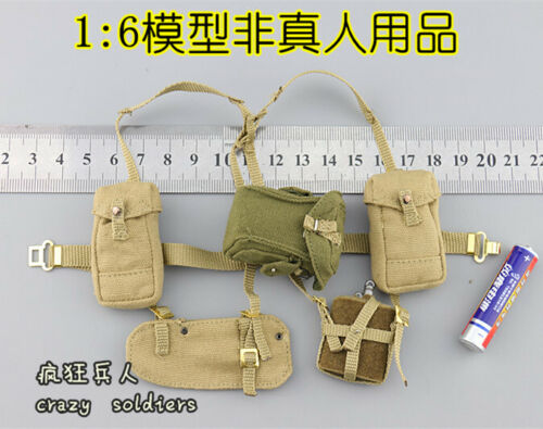 Charlie Straps /& Pouches for DID K80136 WWII British 1st Airborne Red Devils 1//6