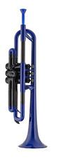 pBone PTRUMPET1B Plastic Trumpet Blue 641064861604