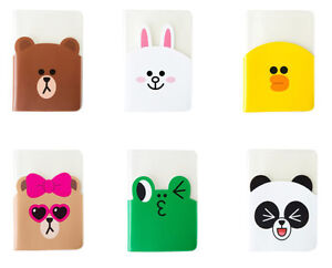 3235aaf4a350 Details about LINE Friends Clear Passport Case Character Cover ID Card  Holder Gift Travel Acc