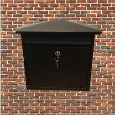 MATT Black chiudibile a chiave cassetta postale/CASELLA POSTALE PER ESTERNI CASA MURO mail/post/Cassetta delle lettere di grandi dimensioni