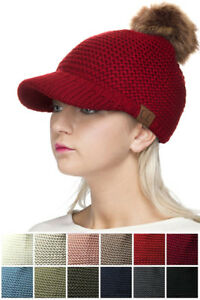 d2268895ec3ad5 Image is loading ScarvesMe-Exclusive-C-C-Knitted-Brim-Visor-With-Fur-