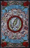 Grateful Dead-mexicali Blues Skulls -30 X 45 Or 60 X 90 Tapestry-loops W/glasses