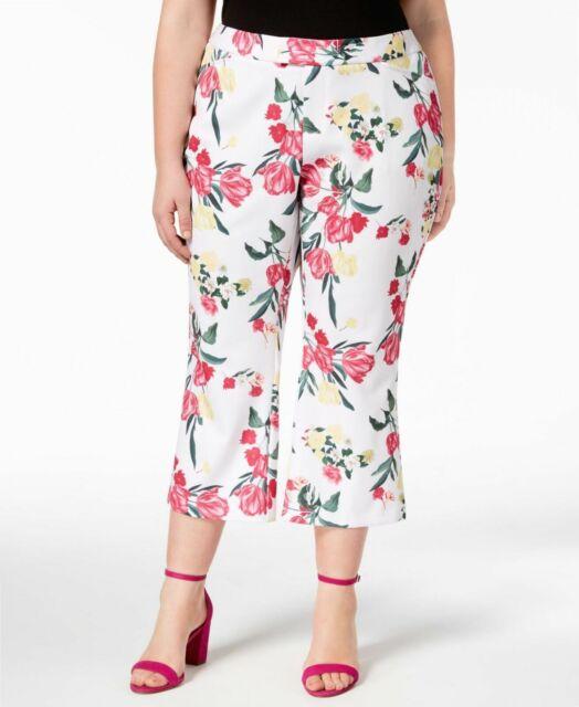 INC International Concepts Plus Printed Cropped Pants $79.50 Size 20W # 9B 385 N