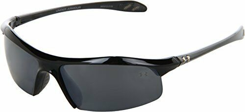 Under Armour Zone Sunglass Shiny Black Frame W// Gray Polarized Multiflection