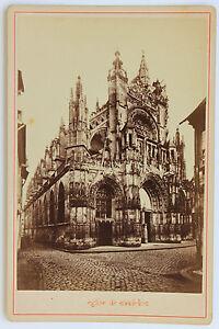L'église Notre-dame De Caudebec Carte Cabinet Vintage Albumine Ca 1885 Les Consommateurs D'Abord