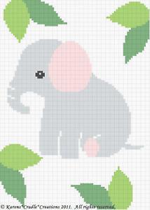 Filet Elephant Blanket Crochet Pattern | Crochet elephant, Crochet ... | 300x214