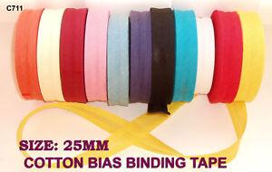 25mm Coton Fixation Par Biais Bruant Finition Bande Fabrication De Robes Couette P148bpah-10121253-317920487