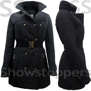 Size 8 10 12 14 16 Women MILITARY Ladies Quilted JACKET COAT ... : quilted ladies coat - Adamdwight.com