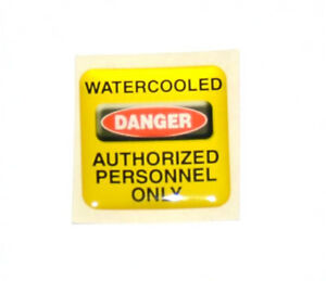 Case-Sticker-Danger-Watercooled-Authorized-Personnel-Only-Gelb