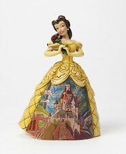Disney Traditions Enchanted Belle Beauty & The Beast Ornament Resin Figurine Box