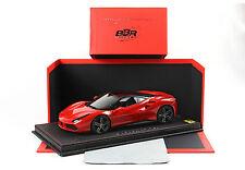 BBR 2015 Ferrari 488 ROSSO CORSA COLOR 322 w/Black Top 85th Geneve 1:18*New Item