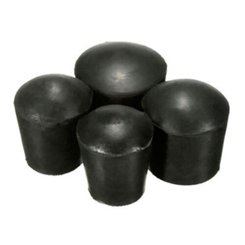 4x Chair Ferrule Anti Scratch Furniture Feet Leg Floor Protector Black Caps