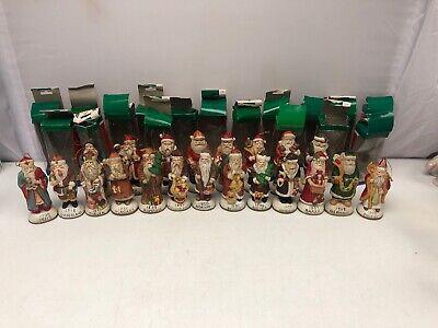 Lot Of 21 Vintage Christmas Around The World Ceramic Santa Claus Tree Ornaments | eBay