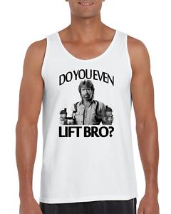 676c43af CHUCK NORRIS DO YOU EVEN LIFT BRO? t shirt funny gym aesthetics tank ...