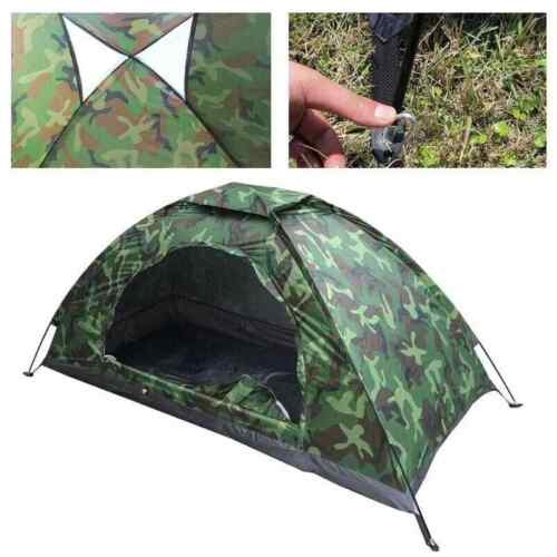 2 Person Camping Tent Waterproof Room Outdoor Hiking Backpack Fishing Tent Camo