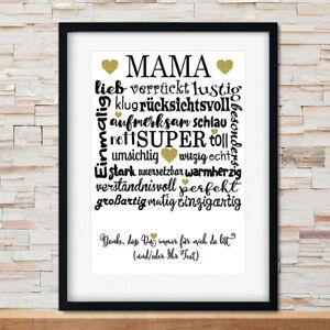 Geschenkidee Muttertag Mutter Geschenk Mutti Mama Herz personalisiert NEU
