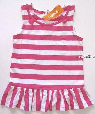 Gymboree BRIGHT AND BEACHY Pink White Stripe Tunic Shirt Top NWT 6 7 8 10 12