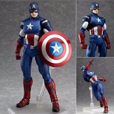 Figma Marvel The Avengers Captain America PVC Action Hero Figure Toy Figurine Fs