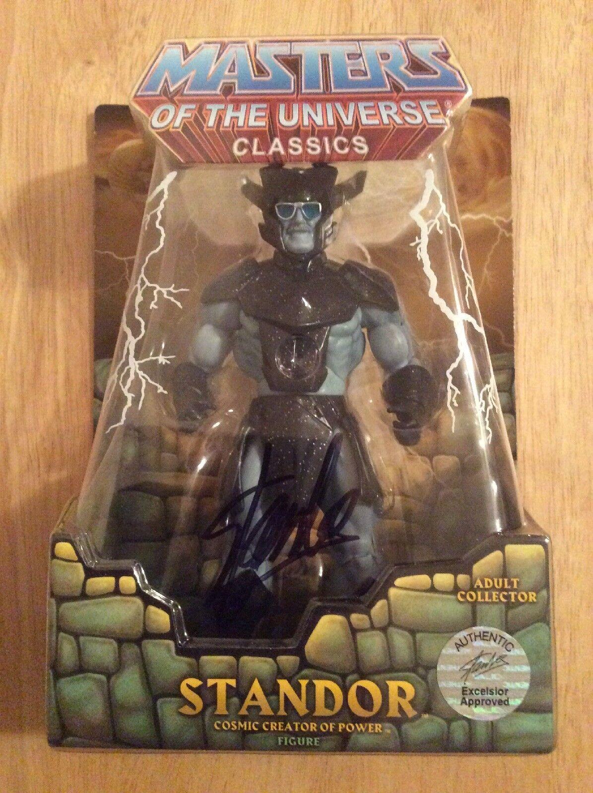 descuentos y mas Firmado por Stan Lee-Amos Lee-Amos Lee-Amos del universo clásicos standor Figura Mattel Holo  hermoso
