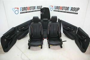 BMW-Sport-Pelle-Sedili-Interni-IN-Pelle-Dakota-Nero-Accento-Rosso-3er-F30