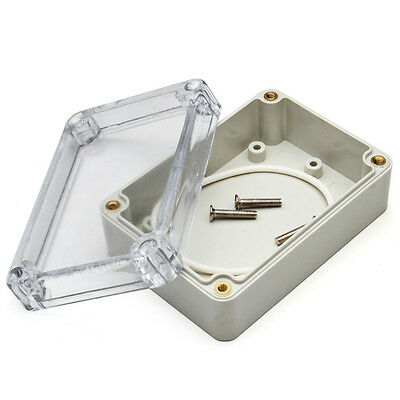 Clear ABS Waterproof Electronic Transparent Project Box Case Cover 85x58x33mm