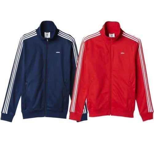 adidas ORIGINALS HERREN BECKENBAUER OG JACKET NAVY RED CLASSIC CASUALS TRACK TOP