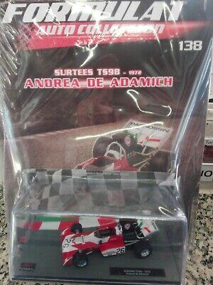 Ambizioso Surtees Ts9b 1972 Andrea De Adamich Formula1 Auto Collection 1/43 #138 Moc