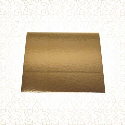 10 x tortenuntersetzer en ambos lados-oro con reflejo-cuadrada 29 x 29cm disco