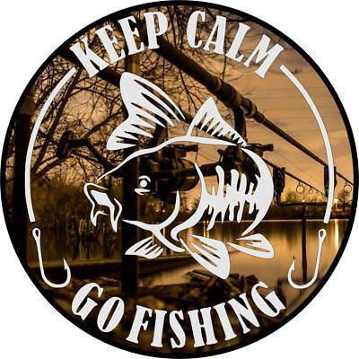 Zwierig Keep Calm And Go Fishing Car Window Bumper Laptop Sticker Vinyl Decal Camping Voldoende Aanbod