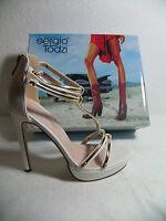 Italienische Damen Schuhe Plateau Sandalen High Heels Stiletto Gr. 40 Weiß